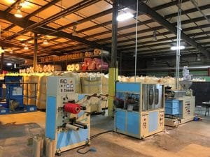 Case EM–NT55 Stretched Net Extrusion Line
