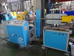 Extrusion Down Stream Equipment For PE Pipe with Steel Wire Insert for Cable