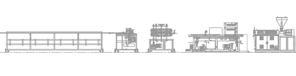 Everplast EMS-55 PVC Profile Extrusion Machine Line-Layout Drawing