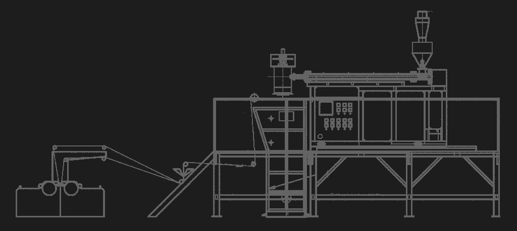 Multifunctional Square Net Machine Line Layout