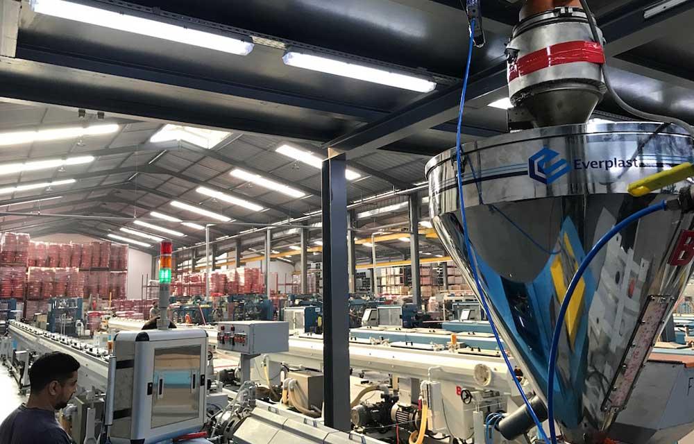pipe application pe steel wire pipe machine line