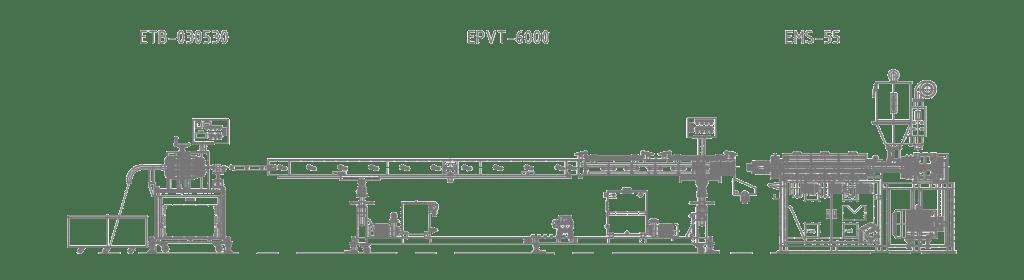 lldpe tube machine line