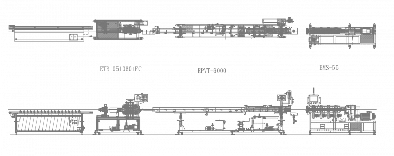 pa66 car tube machine line