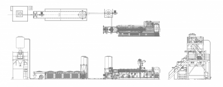 pvc compounding machine line