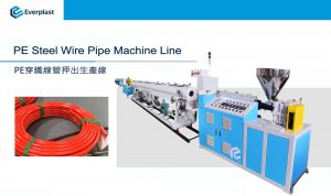 PE Steel Wire Pipe Machine Line